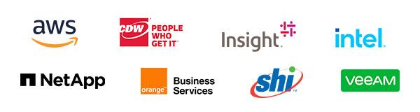 AWS, CDW, Insight, Intel, NetApp, Orange Business Services, SHI, Veeam